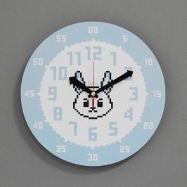 [바보사랑](kdrz138)저소음 교육용시계(도트 토끼)