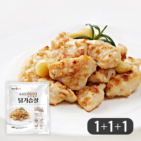 촉촉한 한입 닭가슴살 마늘맛 1+1+1팩