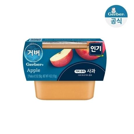 ★거버 사과 퓨레 112g(56gx2개입) 2팩