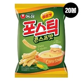[슈퍼투데이특가] 농심 포스틱 하프컷 콘스프맛 80g 20봉