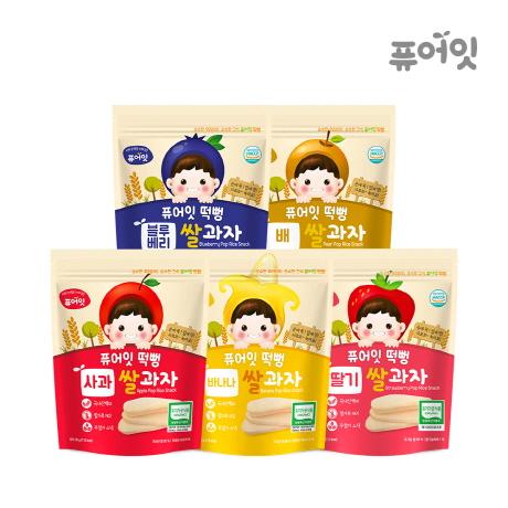 떡뻥 과일맛 5종세트 (사과/바나나/딸기/블루베리/배)