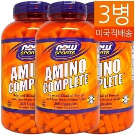 [해외배송] 3병/360캡슐 나우푸드 아미노 컴플리트