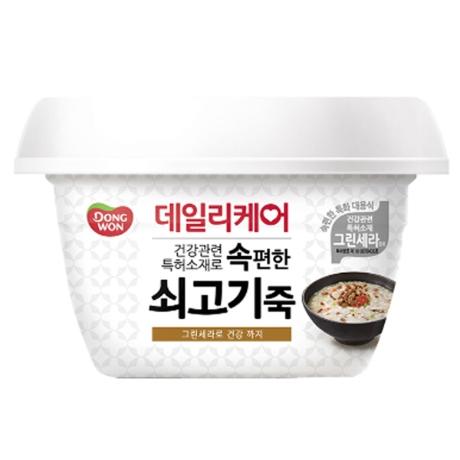 동원 데일리케어 전복죽 287gx1개/양반죽/쇠고기죽