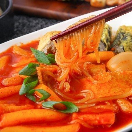 [떡볶이공장] [매운맛]떡볶이3팩+[매운맛]쫄볶이3팩 (소스포함)
