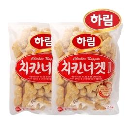 [하림] 하림 치킨너겟 2kg ( 1kg x 2봉 )