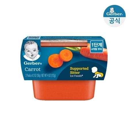★거버 당근 퓨레 112g(56gx2개입) 2팩