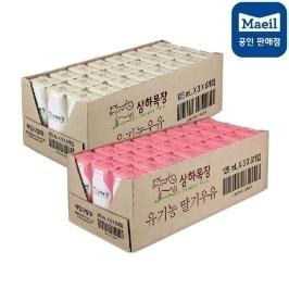 상하유기농 흰우유 24팩 + 딸기우유 24팩