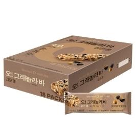 [원더배송] 오리온 마켓오네이처 검은콩그래놀라바 30g 15입 (1박스)