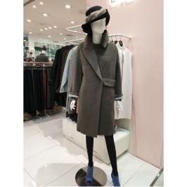 [이엔씨] W몰 ENC 럭셔리 라마 브라운 코트 ENJH84C33O