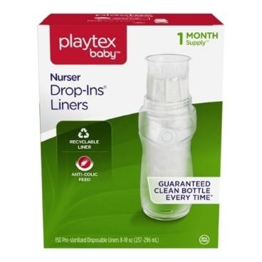 플레이텍스 일회용 멸균팩 라이너 (236-300ml)150매 (한달분) playtex drop-in liner