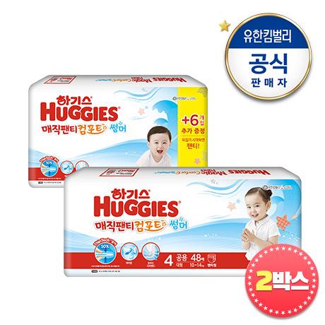 하기스 뉴매직컴포트핏 썸머팬티기저귀 2팩 x 2BOX