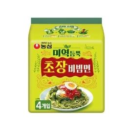 [원더배송] 농심 미역듬뿍 초장비빔면 142g 32봉