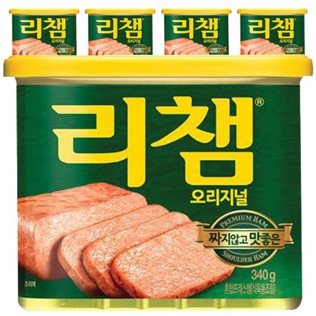 리챔 오리지널 햄통조림 340g, 5개