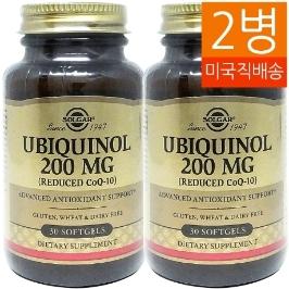 [솔가] [해외배송]2병 솔가 유비퀴놀 Ubiquinol 200mg 30젤