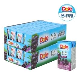 Dole 포도 프리미엄 100% 과즙주스 2박스 (총 120mlx64팩)