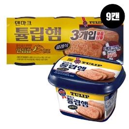 [원더배송] 농심 덴마크튤립햄클래식 200g 9캔
