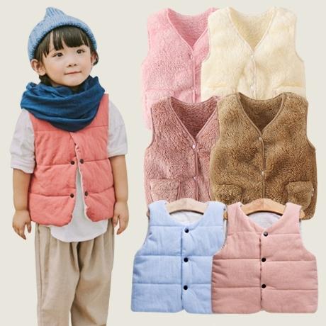 쌀쌀한 바람 아동 조끼 수면조끼 베스트 후리스