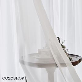 [늘필요특가] 호텔식 나비주름 쉬폰 속커튼 (화이트)70x230
