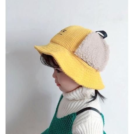 하오제이 유아 아동 겨울 골덴 귀달이 벙거지 모자 4컬러
