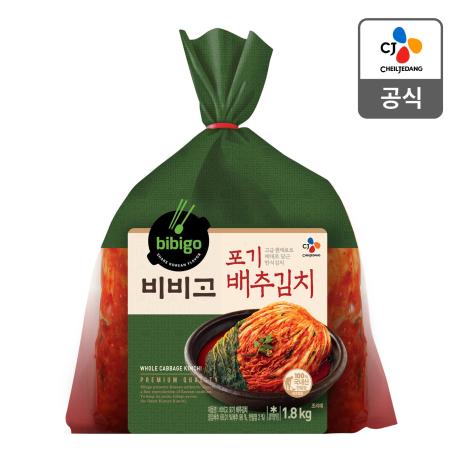 [더싸다특가] 비비고 포기배추김치 1.8kg