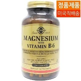 [솔가] [해외배송] 솔가 마그네슘과 비타민B6 250정