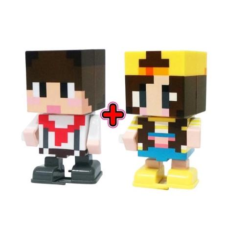 샌드박스프렌즈 잠뜰태엽+도티태엽 피규어 블럭 블록 크리스마스선물 장난감 완구 어린이날 캐릭터