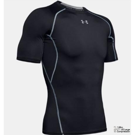 [언더아머] 언더아머 남성 UA HeatGear® 아머 반팔 컴프레션 셔츠 1257468-001