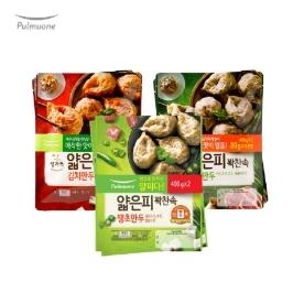 (현대Hmall)[풀무원]얇은피만두 3종 4봉 모음(고기/김치/땡초)