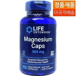 [라이프익스텐션] [해외배송] 라이프익스텐션 마그네슘 캡스 500mg 100베지캡