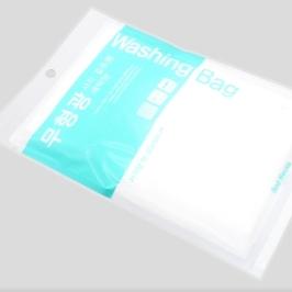[싸고빠르다] 구김 엉킴NO! 안심 무형광 지퍼 사각 세탁망 겉옷용 1매 (40*50cm)