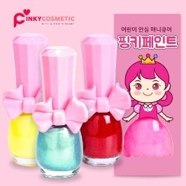 [가치삽시다] 핑키페인트 유아 매니큐어 어린이 아동 수성 네일 메니큐어