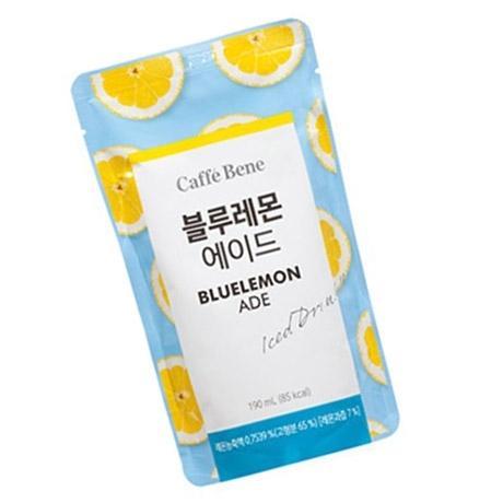[싸고빠르다] 카페베네 블루 레몬에이드 파우치 190ml 1봉