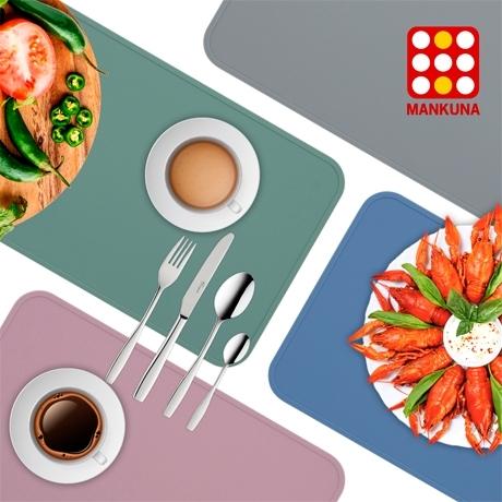MANKUNA 국내산 실리콘 식탁매트/0747/실리콘식탁매트/열탕소독/매트/실리콘주방소품/주방소품/위생매트/식탁보