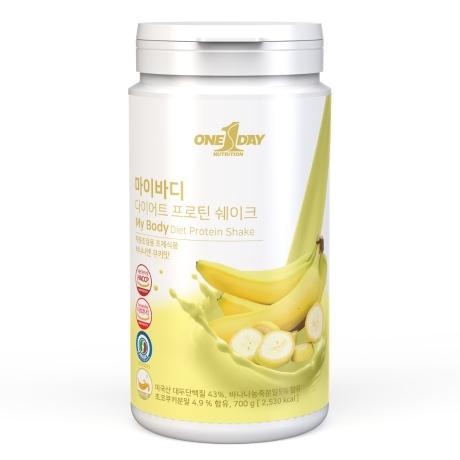 마이바디 다이어트 단백질 쉐이크 식사대용간식_바나나쿠키맛 700g 23회분