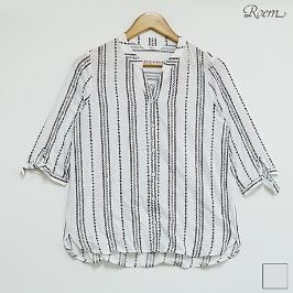 [로엠] 로엠 에스닉 패턴 셔츠