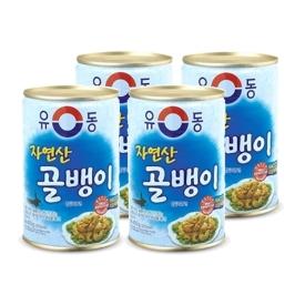 [원더배송] 유동 자연산골뱅이 통조림 400g 4개