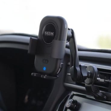 카딱 음성인식 차량용 무선 고속 충전기 충전 거치대