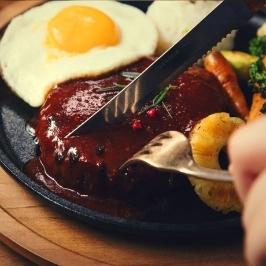 [늘필요특가] 흑미100%소고기 함박스테이크 (특제소스포함/올비프/간편조리)160g-6팩구매시1팩 더!