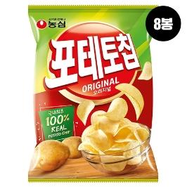 [원더배송] 농심 포테토칩오리지널 125g 8봉