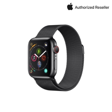 Apple 애플워치 4 40mm GPS+ 셀룰러 스페이스블랙 스테인리스 스틸 케이스 밀레니즈 루프