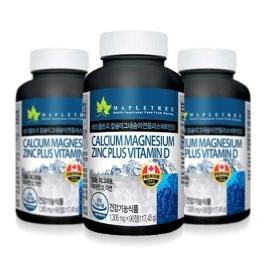 [원더배송] 메이플트리 칼슘마그네슘 아연+비타민D 3병