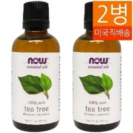 [해외배송] 2개 무배 나우푸드 티트리 오일 Tea Tree Oil 59ml