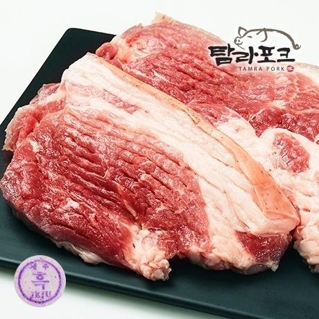 청정제주 흑돼지 뒷다리살 주먹고기 600g
