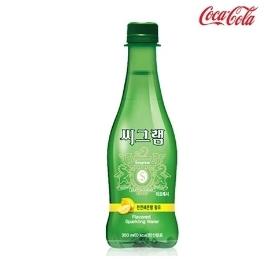 [싸고빠르다] 코카콜라 씨그램 레몬 350ml 탄산수 음료