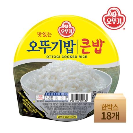 [오뚜기] (현대Hmall)[오뚜기] 맛있는 오뚜기 큰밥 300gx18개(한박스)