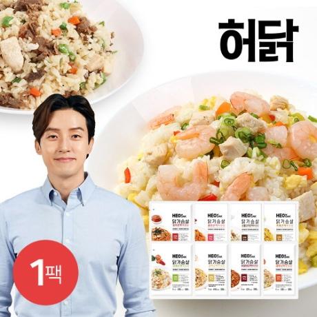 AK몰_허닭 신제품출시 닭가슴살 곤약볶음밥 250g 10종 1팩