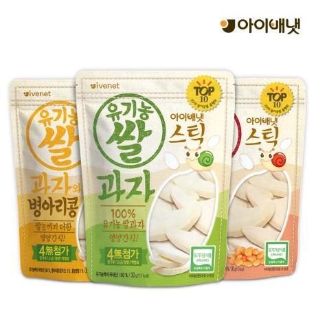 기획전 / 스틱 유기농 쌀과자 6개