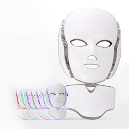 얼굴부터 목까지 피부관리 LED 마스크팩 7컬러