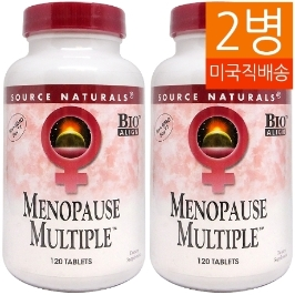 [해외배송] 2병 소스내추럴스 메노포즈 멀티플 menopause multiple 120tablet