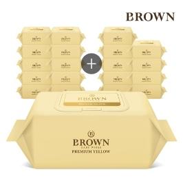 브라운 프리미엄 아기물티슈 72매 캡형 10+10팩